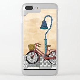 Bicycle on the El Camino Real Clear iPhone Case