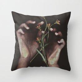 Delicate Hands Throw Pillow
