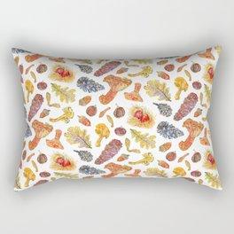 Forest Treasures - White Rectangular Pillow