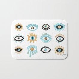 Evil Eye Illustration Bath Mat