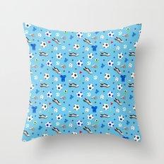 Football pattern Throw Pillow