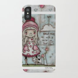 Happy Heart - Motivational Art for Girls iPhone Case