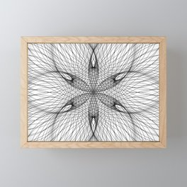 Sacred Geometry Flower - C11281 Framed Mini Art Print