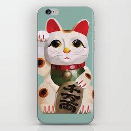 Maneki Neko (Fortune Cat) Polygon Art iPhone Skin