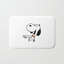 snoopy_laughing Bath Mat