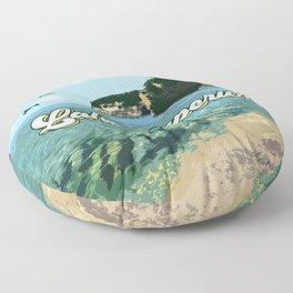Lake Superior Retro Floor Pillow