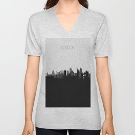 City Skylines: London Unisex V-Neck