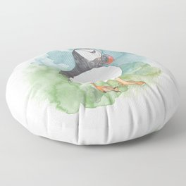 Iceland Puffin Floor Pillow