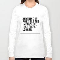 typo Long Sleeve T-shirts featuring Typo by giupic