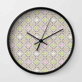 Mochi Kochi | Pattern in Grey Wall Clock