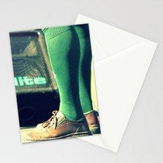 Green socks Stationery Cards