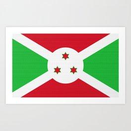 Burundi Flag (Canvas Look) Art Print