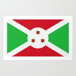 Burundi Flag (Canvas Look) Art Print