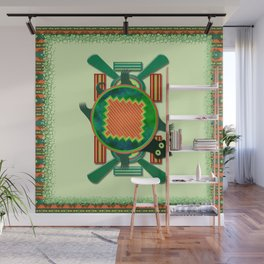 Native American Folk Art Turtle Wall Mural