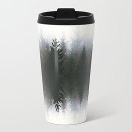 Sound waves -woods Travel Mug