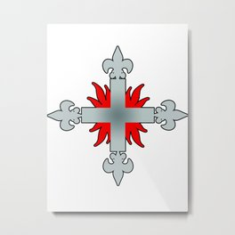 Three Musketeers Uniform Logo Metal Print