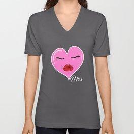 Mrs Valentine Valentine's Day Lady Heart Unisex V-Neck
