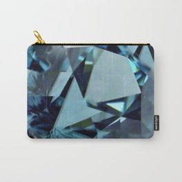 AQUAMARINE GEMS ABSTRACT ART Carry-All Pouch