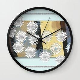 Floral card Wall Clock