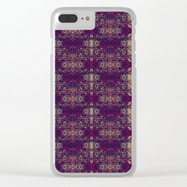 Weathered Looked Vintage Tapestry Pattern Clear iPhone Case