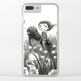 Season Series: Contemplation (Spring) Clear iPhone Case