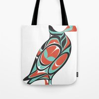 puffin Tote Bags featuring Puffin by Siggi Odds