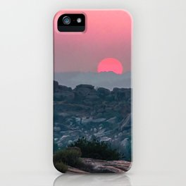 Otherworldly sunrise of Hampi, India iPhone Case