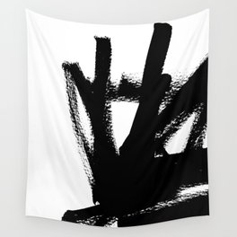 Abstract black & white 1 Wall Tapestry