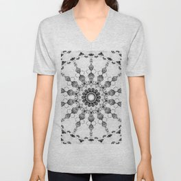 Damask design Unisex V-Neck