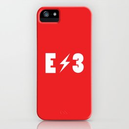 E3 red iPhone Case