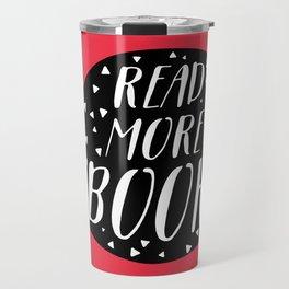 Read More Books (Speech Bubble Red) Travel Mug