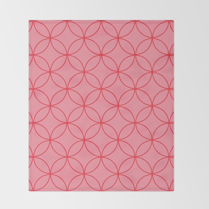Moorish Circles - Pink & Red Throw Blanket