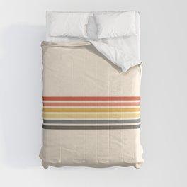 Preda - Classic Motley 70s Vintage Style Retro Stripes Comforters