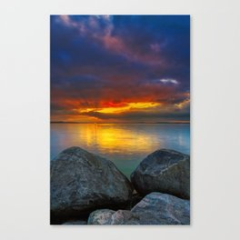 Stormy Tropical Sunset Sea Canvas Print