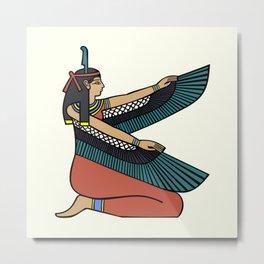 Egyptian goddess maat with wings Metal Print
