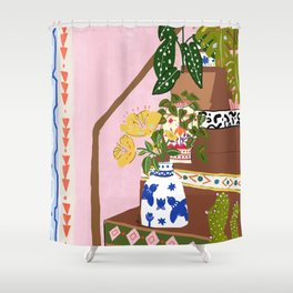 Bohemian stairs Shower Curtain