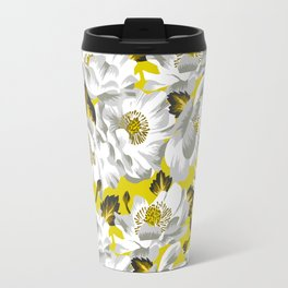 Mount Cook Lily - Yellow/White Travel Mug