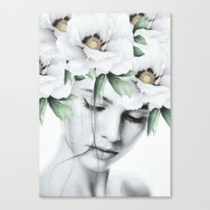 WOMAN WITH FLOWERS 10a Canvas Print