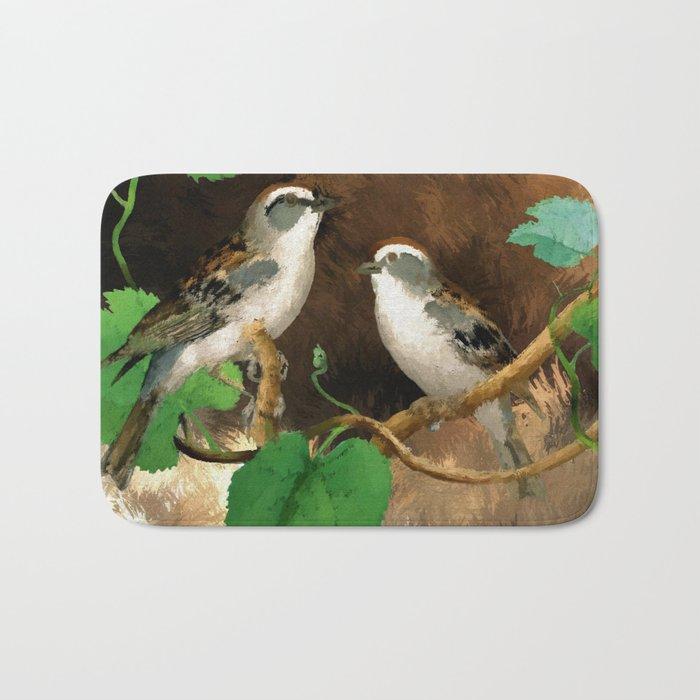 Painting of a Bird Bath Mat