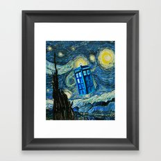 Flying Tardis doctor who starry night iPhone 4 4s 5 5c 6, pillow case, mugs and tshirt Framed Art Print