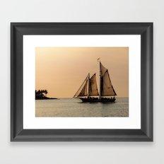 Sunset in Key West Framed Art Print