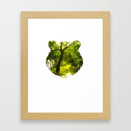 Tiger Forest Head Framed Art Print
