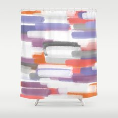 Painted Clay Shower Curtain
