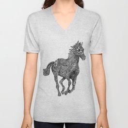 Horse Galloping Zentanlge Unisex V-Neck