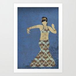 Belly dancer 4 Art Print