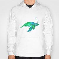 sea turtle Hoodies featuring Sea Turtle  by MacDonald Creative Studios