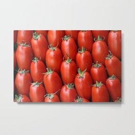 Tomatoes pattern background Metal Print