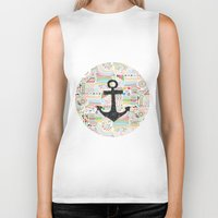 anchor Biker Tanks featuring Anchor by Berreca