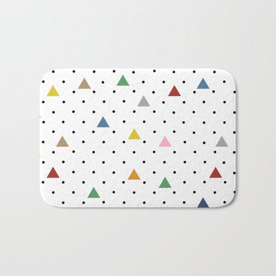 Pin Point Triangles Bath Mat