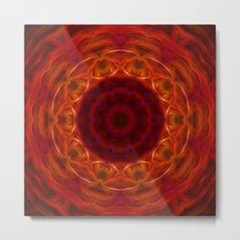 Red Orange Abstract Tile 10 Metal Print